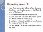 his writing career iii