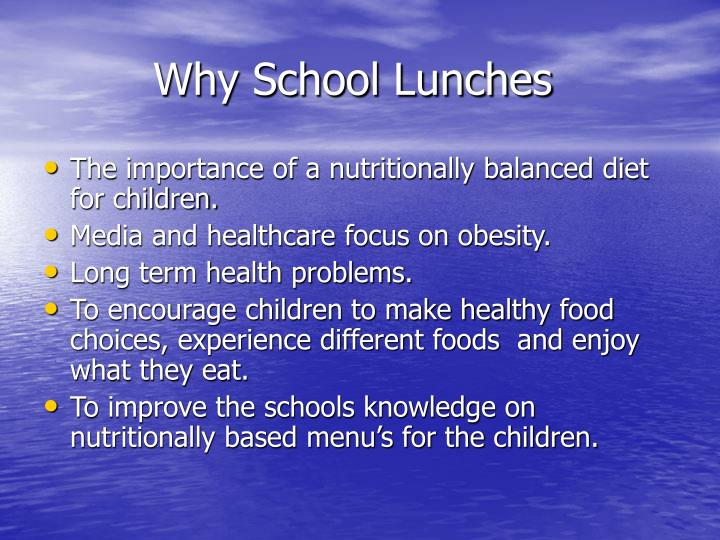 Why school lunches