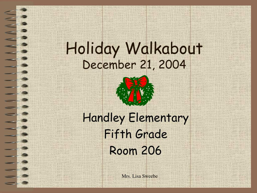holiday walkabout december 21 2004