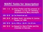 marc fields for description