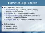 history of legal citators