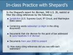 in class practice with shepard s