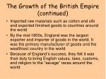 the growth of the british empire continued