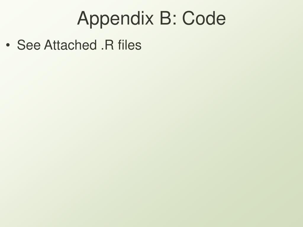 Appendix B: Code