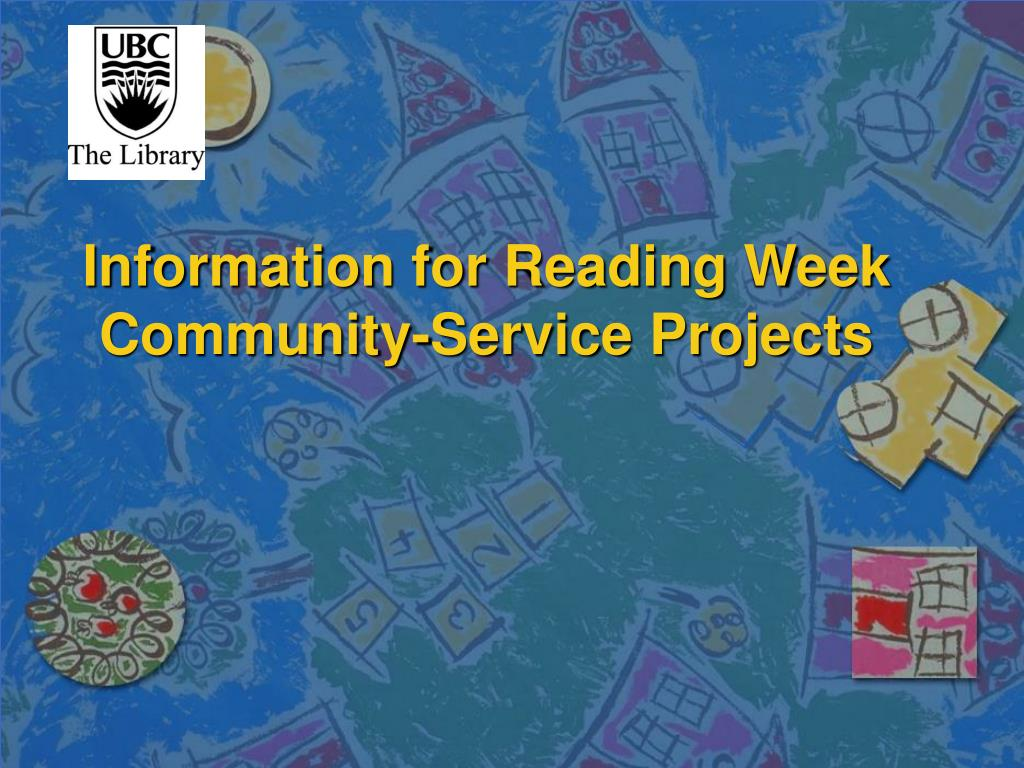 Information for Reading Week Community-Service Projects