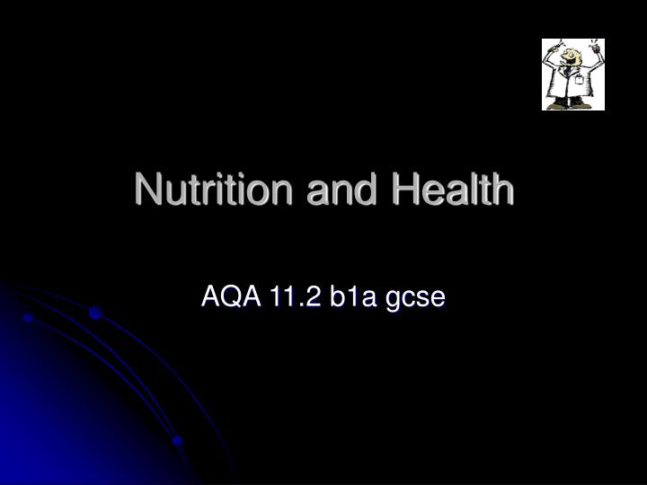 nutrition and health n.