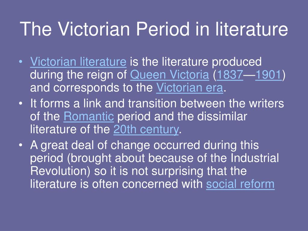 the differences between romantic period and victorian period