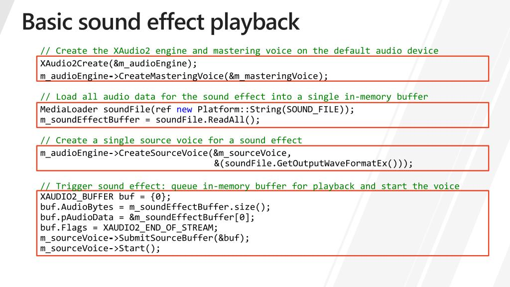 PPT - Compelling audio and video for Metro style games PowerPoint