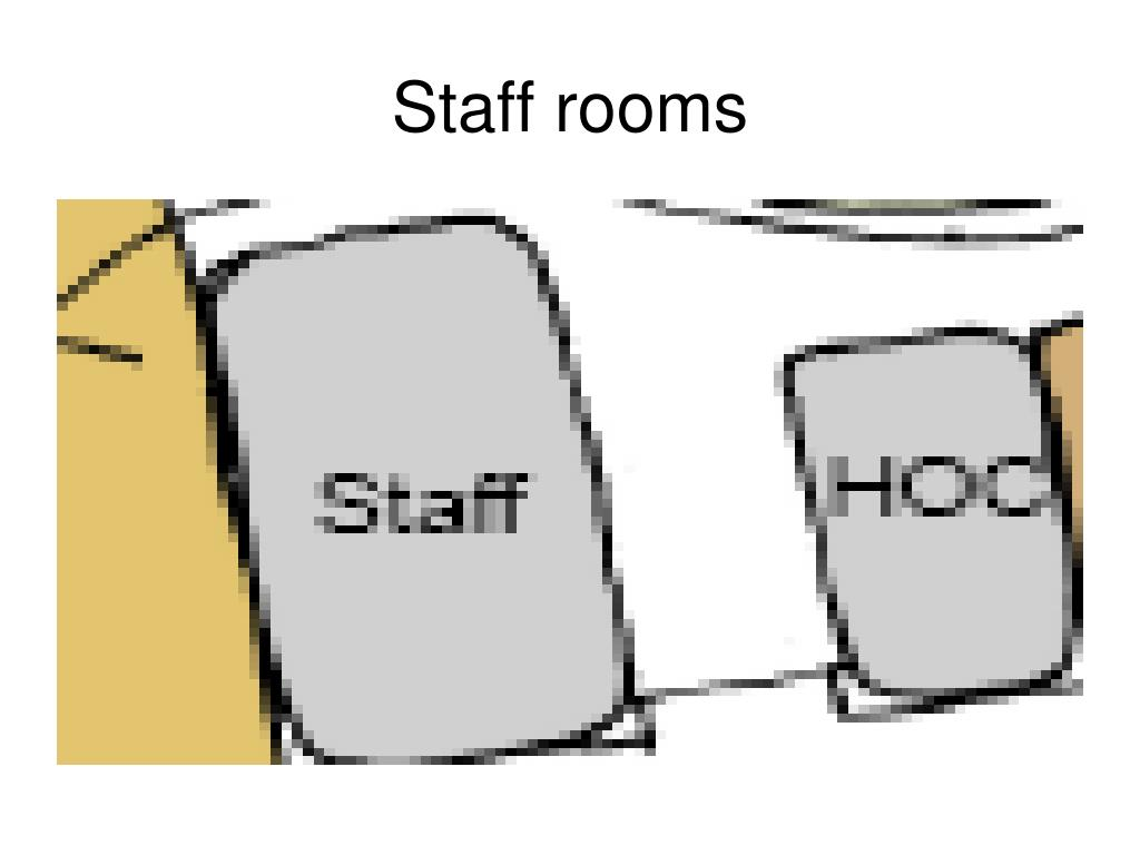 Staff rooms