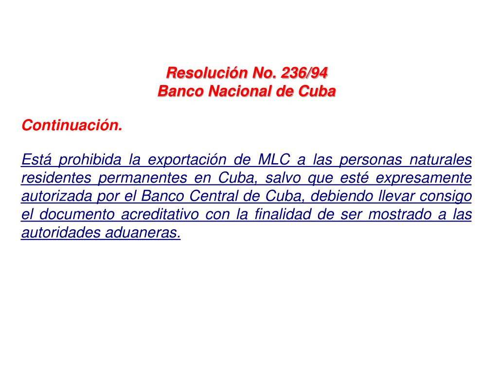 Resolución No. 236/94