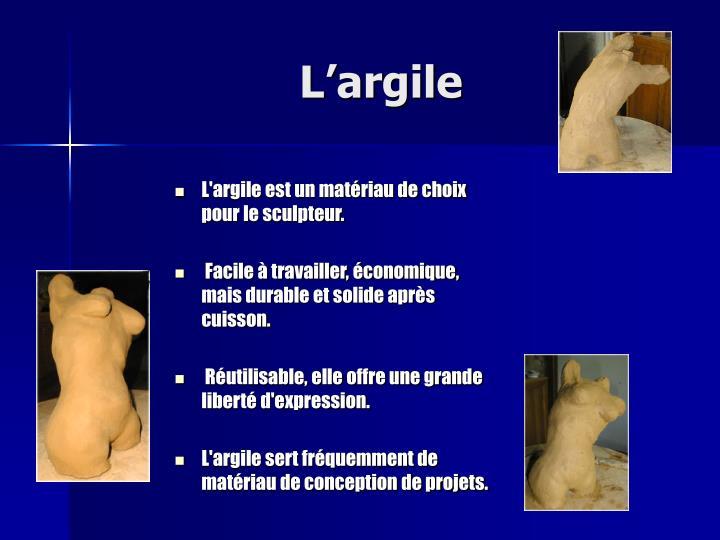 L argile1