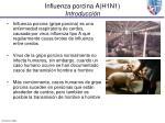 influenza porcina a h1n1 introducci n