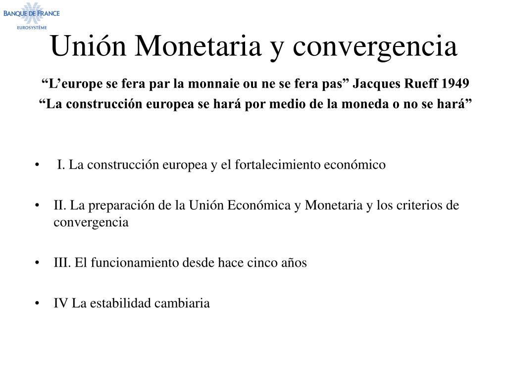 uni n monetaria y convergencia l.