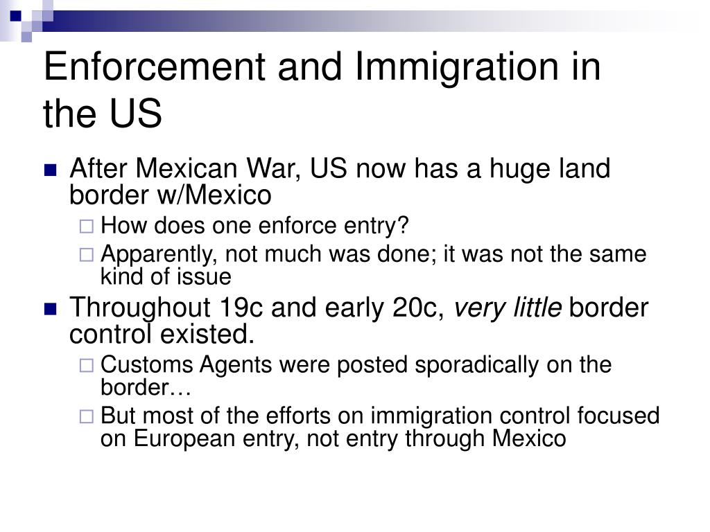 Enforcement and Immigration in the US