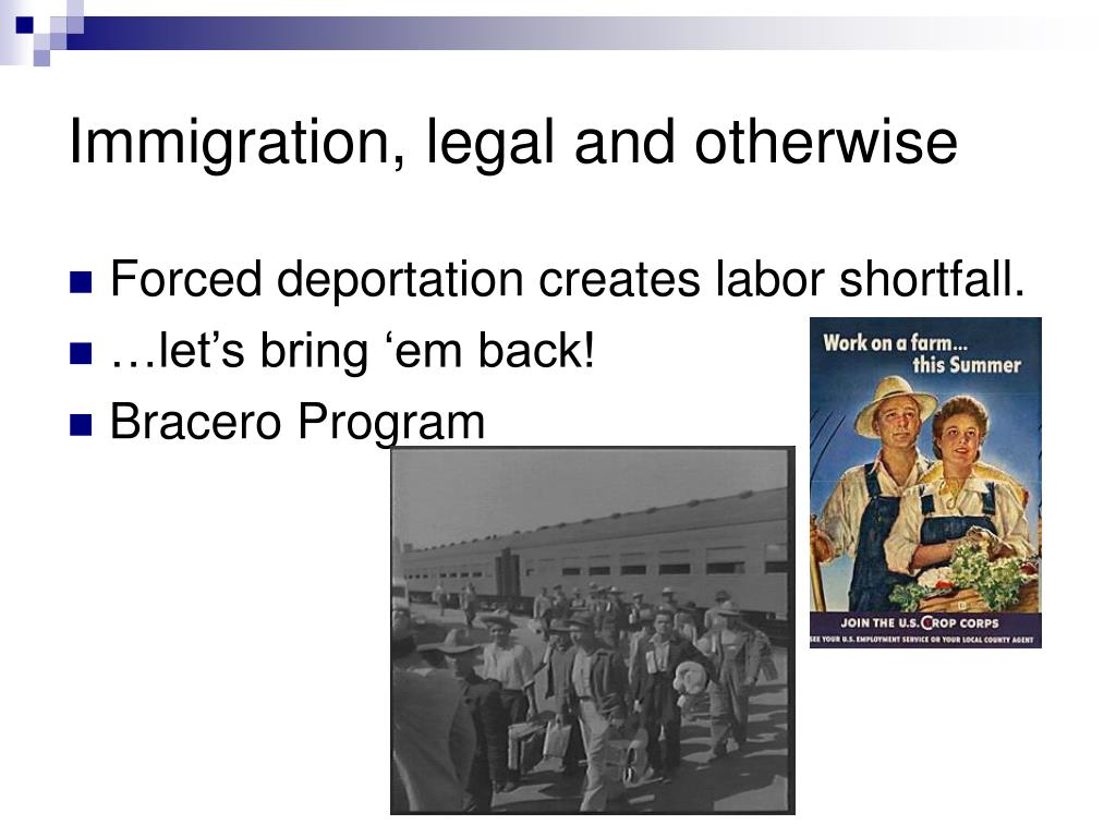 Immigration, legal and otherwise