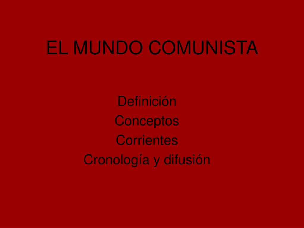 el mundo comunista l.