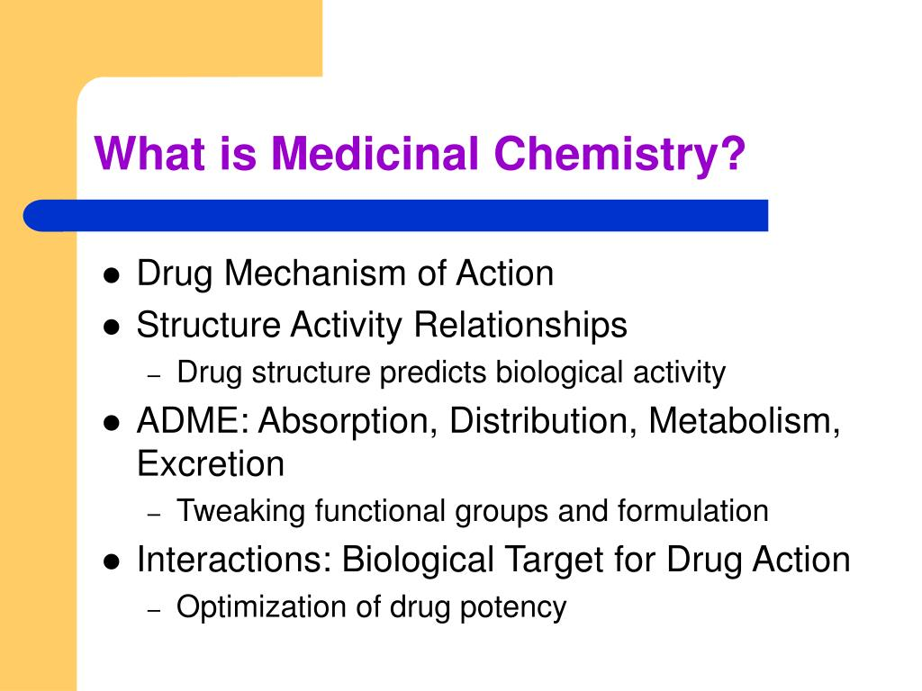 What is Medicinal Chemistry?