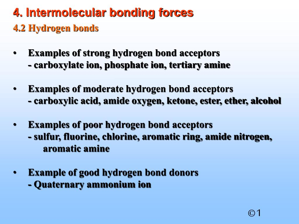 4. Intermolecular bonding forces