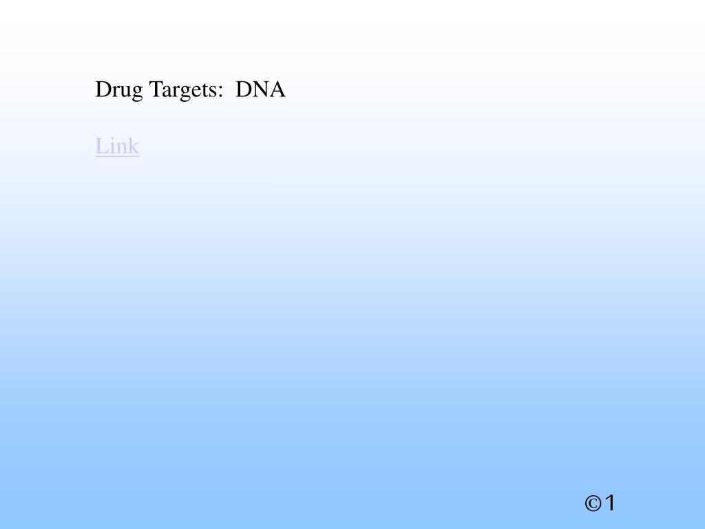 Drug Targets:  DNA