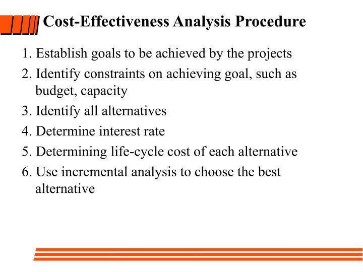 Cost-Effectiveness Analysis Procedure