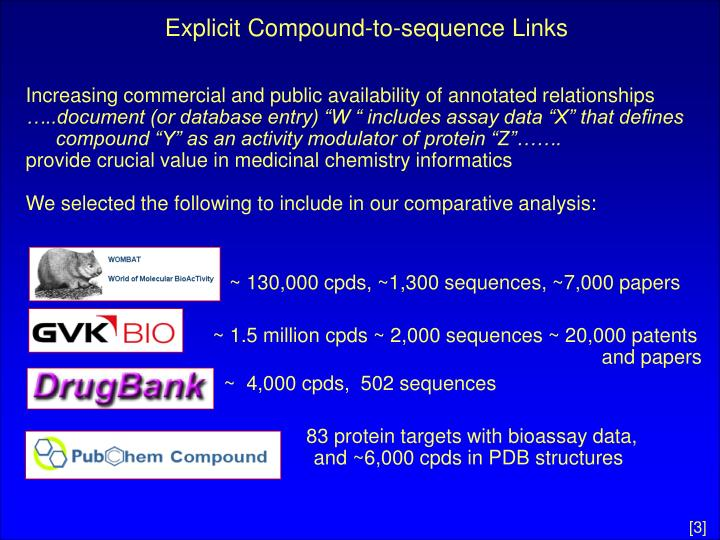 Explicit compound to sequence links