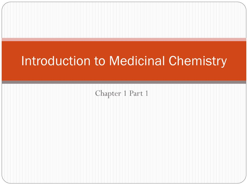 introduction to medicinal chemistry l.
