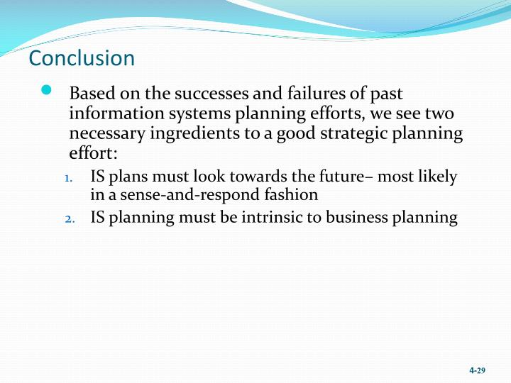 conclusion of strategic planning