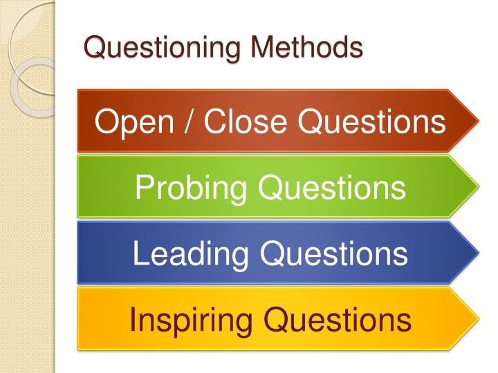 Questioning methods