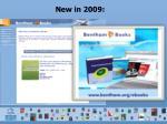 new in 2009