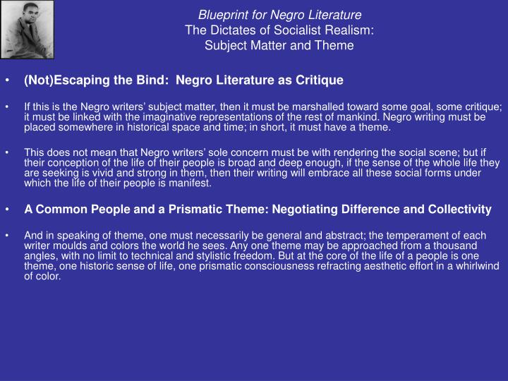 Ppt cultural strangulation by addison gayle powerpoint blueprint for negro literaturethe dictates of socialist malvernweather Gallery