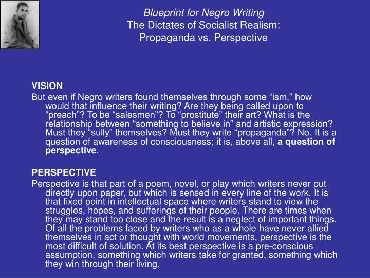 Ppt cultural strangulation by addison gayle powerpoint blueprint for negro writingthe dictates of socialist realismpropaganda malvernweather Gallery