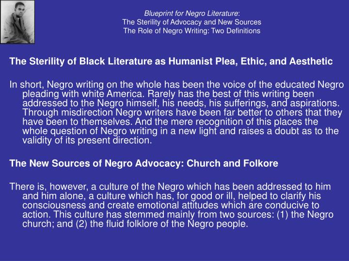 Ppt cultural strangulation by addison gayle powerpoint blueprint for negro literaturethe sterility of advocacy and new malvernweather Gallery