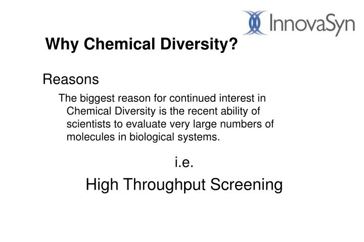 Why chemical diversity