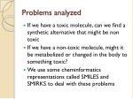 problems analyzed