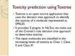toxicity prediction using toxtree
