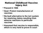 national childhood vaccine injury act