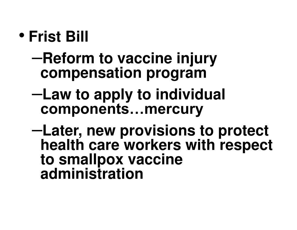 Frist Bill