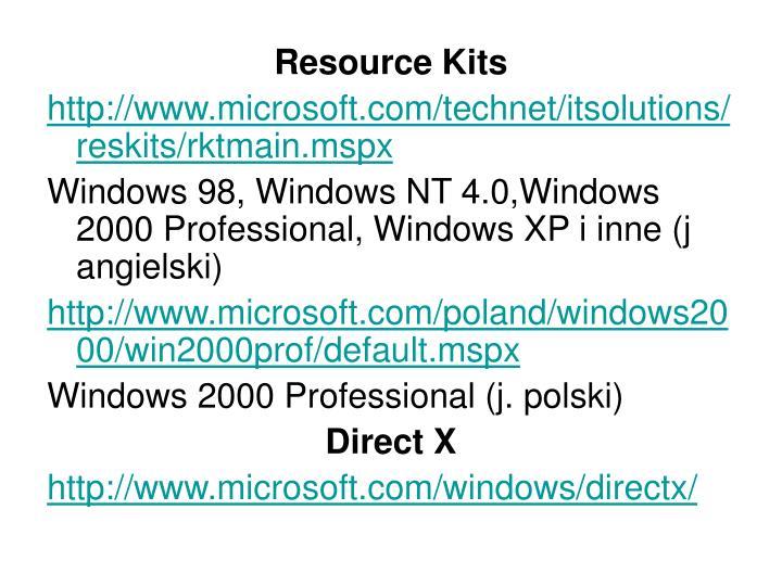 Resource Kits