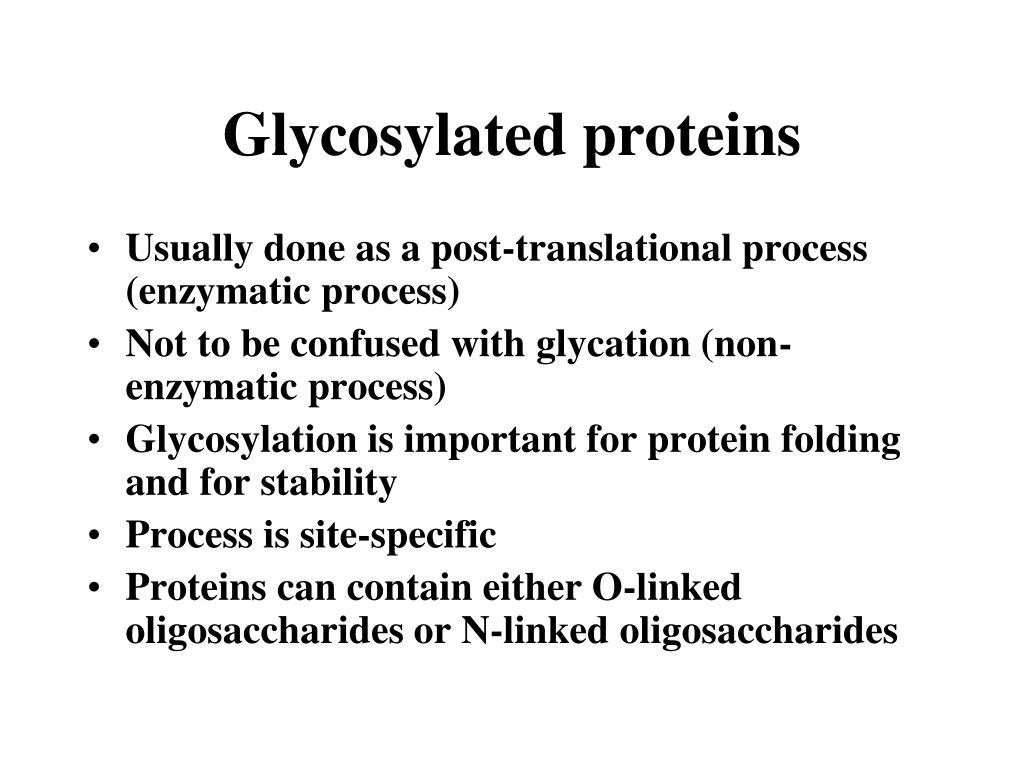 Glycosylated proteins
