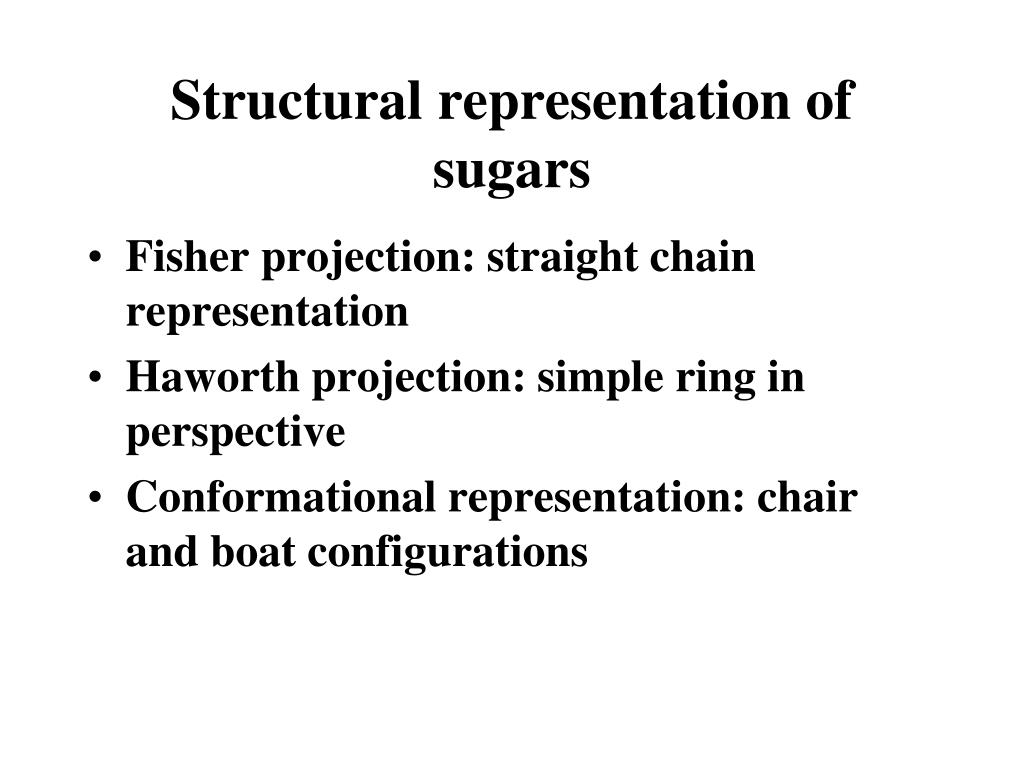 Structural representation of sugars