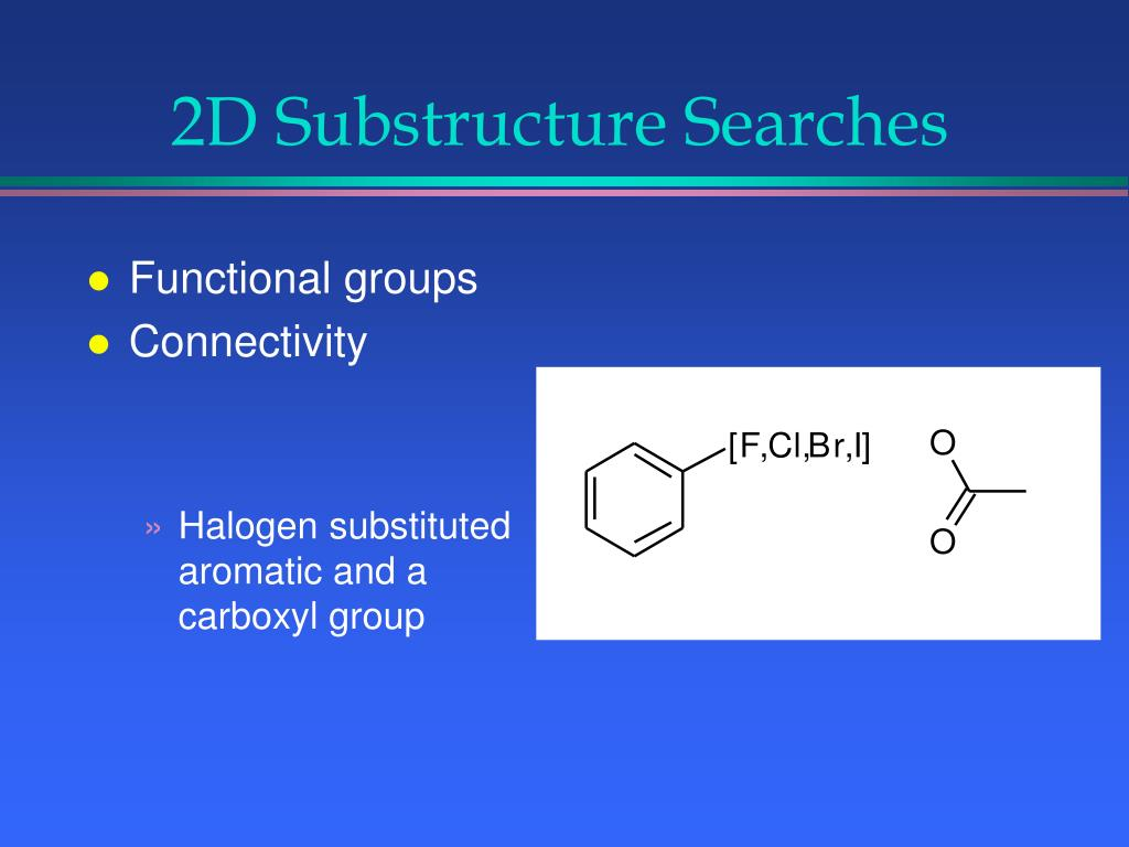 2D Substructure Searches