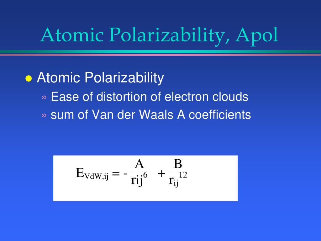 Atomic Polarizability, Apol