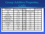 group additive properties gaps