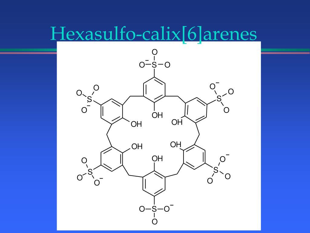 Hexasulfo-calix[6]arenes