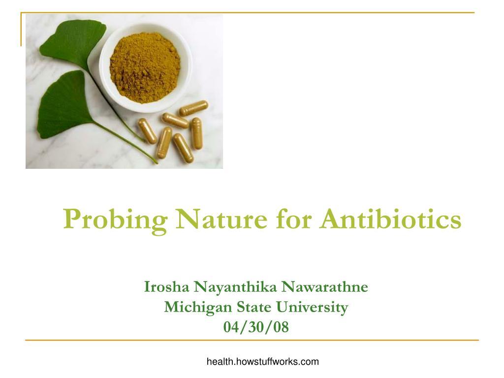 Probing Nature for Antibiotics
