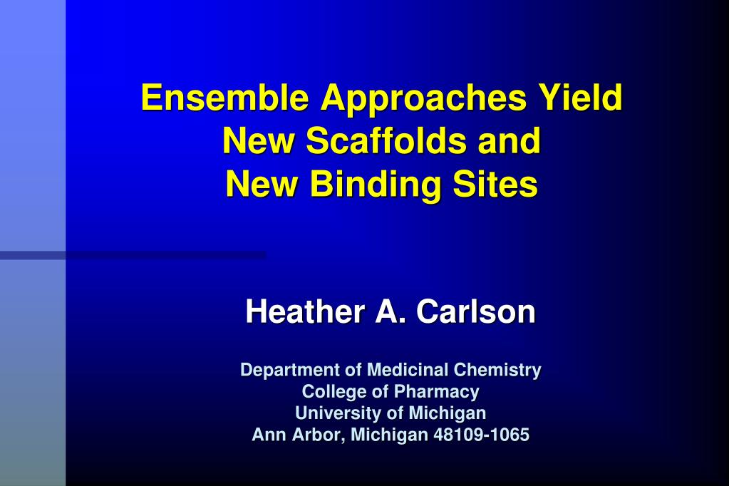 ensemble approaches yield new scaffolds and new binding sites l.