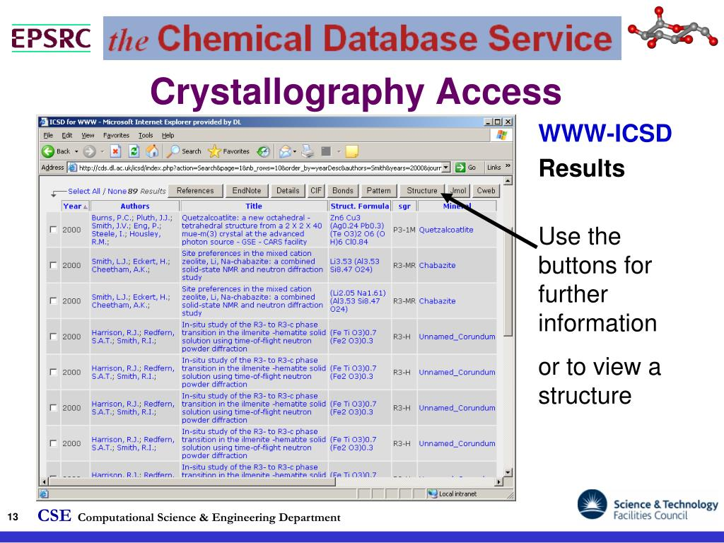 PPT - Introduction to the Chemical Database Service