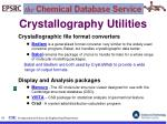 crystallography utilities