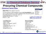 procuring chemical compounds65