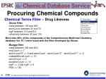 procuring chemical compounds66